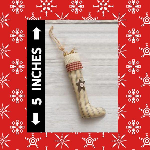 Ornament - Primitive Style Stocking